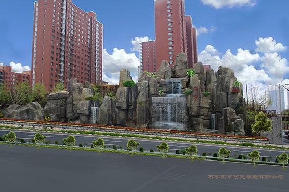 西藏山體護坡假山浮雕綠化制作項目